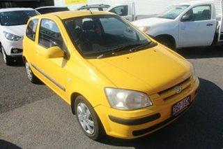 2004 Hyundai Getz TB MY04 GL Yellow Manual Hatchback.