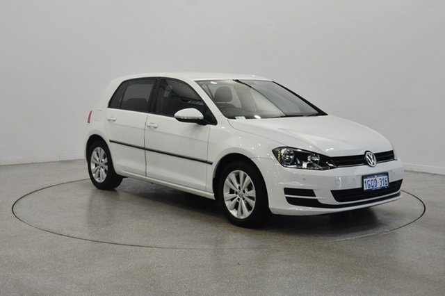 Used Volkswagen Golf VII MY14 90TSI DSG Comfortline, 2013 Volkswagen Golf VII MY14 90TSI DSG Comfortline Pure White 7 Speed Sports Automatic Dual Clutch