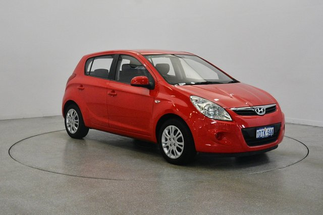 Used Hyundai i20 PB MY12 Active, 2011 Hyundai i20 PB MY12 Active Electric Red 4 Speed Automatic Hatchback