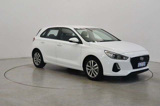 Used Hyundai i30 PD MY18 Active, 2017 Hyundai i30 PD MY18 Active Polar White 6 Speed Sports Automatic Hatchback
