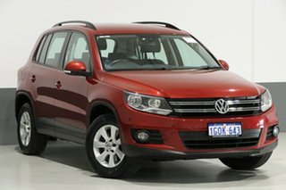 2013 Volkswagen Tiguan 5NC MY13.5 132 TSI Pacific Red 7 Speed Auto Direct Shift Wagon.