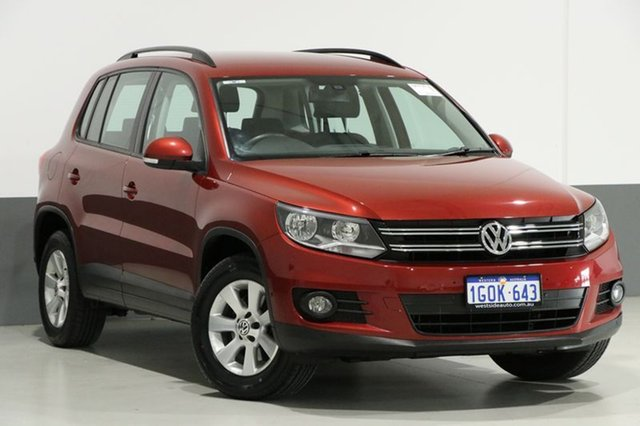 Used Volkswagen Tiguan 5NC MY13.5 132 TSI Pacific, 2013 Volkswagen Tiguan 5NC MY13.5 132 TSI Pacific Red 7 Speed Auto Direct Shift Wagon