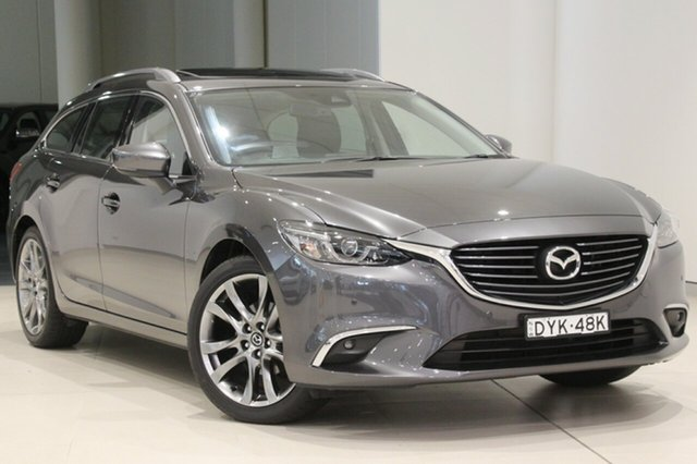 Used Mazda 6 GL1031 GT SKYACTIV-Drive, 2018 Mazda 6 GL1031 GT SKYACTIV-Drive Machine Grey 6 Speed Sports Automatic Wagon