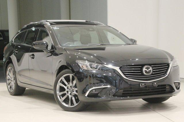 Used Mazda 6 GL1031 Atenza SKYACTIV-Drive, 2017 Mazda 6 GL1031 Atenza SKYACTIV-Drive Jet Black 6 Speed Sports Automatic Wagon