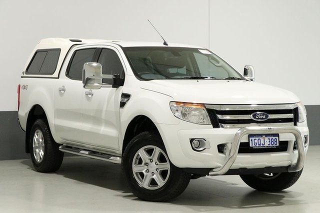 Used Ford Ranger PX XLT 3.2 (4x4), 2012 Ford Ranger PX XLT 3.2 (4x4) White 6 Speed Manual Dual Cab Utility