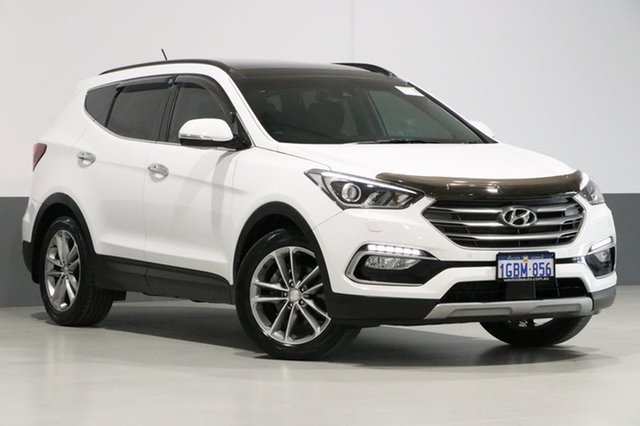Used Hyundai Santa Fe DM SER II (DM3) Update Highlander CRDi (4x4), 2016 Hyundai Santa Fe DM SER II (DM3) Update Highlander CRDi (4x4) White 6 Speed Automatic Wagon