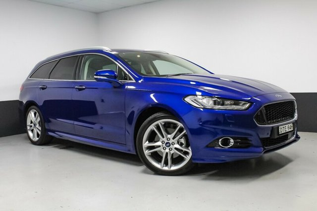 Used Ford Mondeo MD 2017.50MY Titanium PwrShift, 2017 Ford Mondeo MD 2017.50MY Titanium PwrShift Deep Impact Blue 6 Speed
