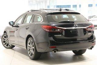 2017 Mazda 6 GL1031 Atenza SKYACTIV-Drive Jet Black 6 Speed Sports Automatic Wagon.
