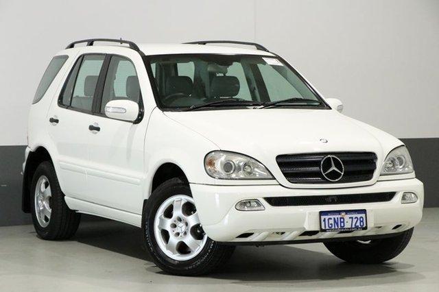 Used Mercedes-Benz ML320 W163 Luxury (4x4), 2002 Mercedes-Benz ML320 W163 Luxury (4x4) White 5 Speed Auto Tipshift Wagon