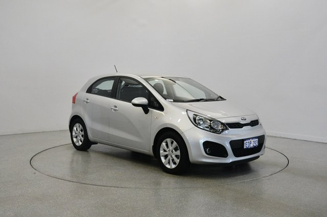 Used Kia Rio UB MY14 S, 2013 Kia Rio UB MY14 S Silver 4 Speed Sports Automatic Hatchback