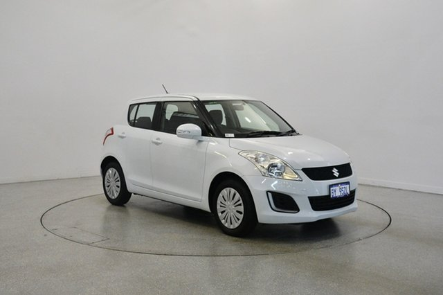Used Suzuki Swift FZ MY15 GL, 2015 Suzuki Swift FZ MY15 GL White 5 Speed Manual Hatchback