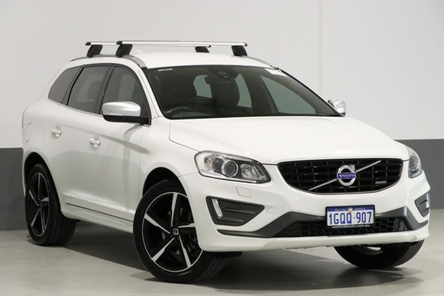 Used Volvo XC60 DZ MY15 T6 R-Design, 2015 Volvo XC60 DZ MY15 T6 R-Design White 6 Speed Automatic Geartronic Wagon