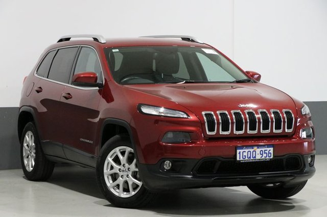 Used Jeep Cherokee KL MY15 Longitude (4x4), 2015 Jeep Cherokee KL MY15 Longitude (4x4) Burgundy 9 Speed Automatic Wagon