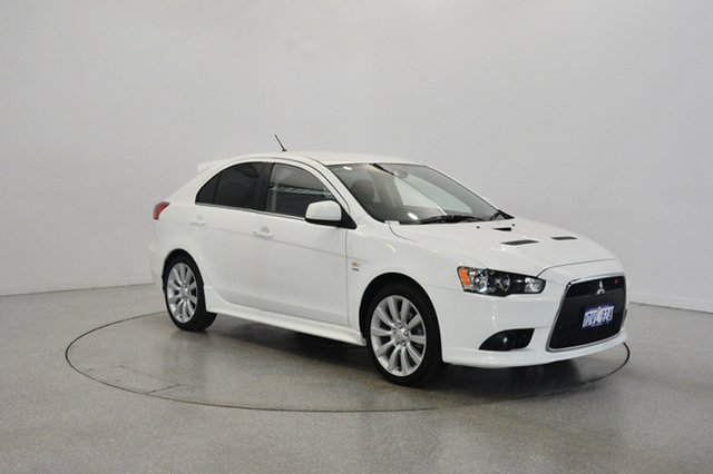 Used Mitsubishi Lancer CJ MY11 Ralliart Sportback TC-SST, 2011 Mitsubishi Lancer CJ MY11 Ralliart Sportback TC-SST White 6 Speed Sports Automatic Dual Clutch
