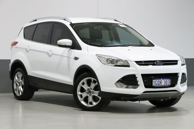 Used Ford Kuga TF Trend (AWD), 2014 Ford Kuga TF Trend (AWD) White 6 Speed Automatic Wagon