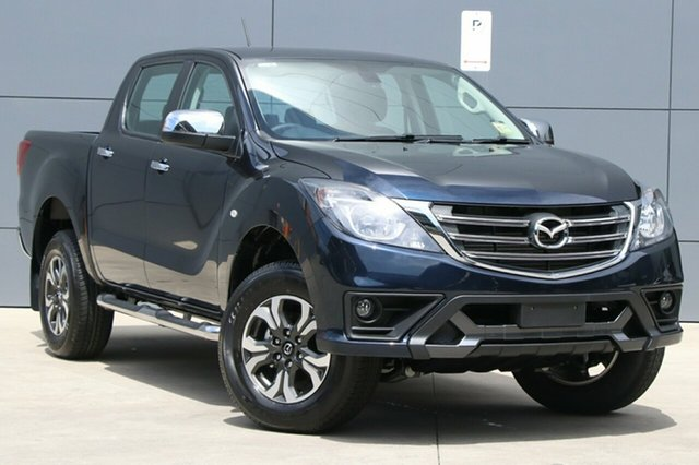 New Mazda BT-50 UR0YG1 XTR 4x2 Hi-Rider, 2018 Mazda BT-50 UR0YG1 XTR 4x2 Hi-Rider Deep Crystal Blue 6 Speed Sports Automatic Utility