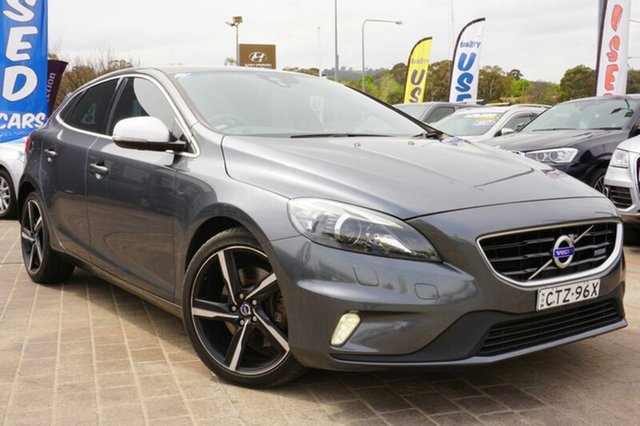 Used Volvo V40 M Series MY14 T5 Adap Geartronic R-Design, 2014 Volvo V40 M Series MY14 T5 Adap Geartronic R-Design Grey 6 Speed Sports Automatic Hatchback