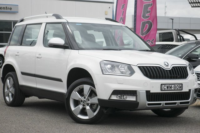 Used Skoda Yeti 5L MY15 103TDI DSG Outdoor, 2014 Skoda Yeti 5L MY15 103TDI DSG Outdoor White 6 Speed Sports Automatic Dual Clutch Wagon