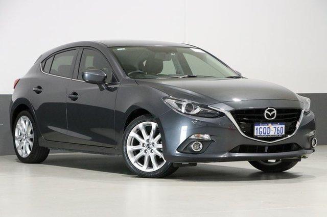 Used Mazda 3 BM MY15 SP25 GT, 2016 Mazda 3 BM MY15 SP25 GT Grey 6 Speed Manual Hatchback
