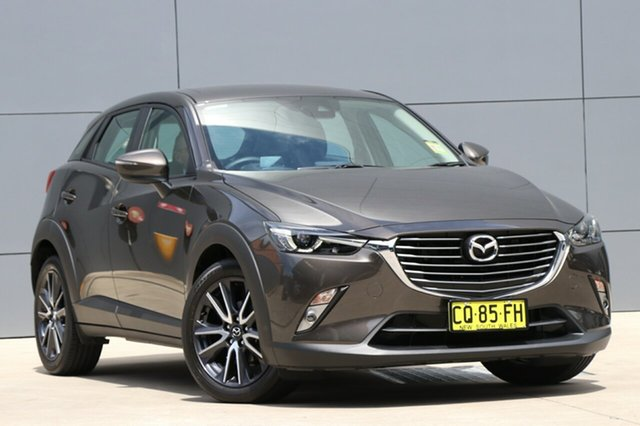 Demo Mazda CX-3 DK2W7A sTouring SKYACTIV-Drive, 2018 Mazda CX-3 DK2W7A sTouring SKYACTIV-Drive Titanium Flash 6 Speed Sports Automatic Wagon