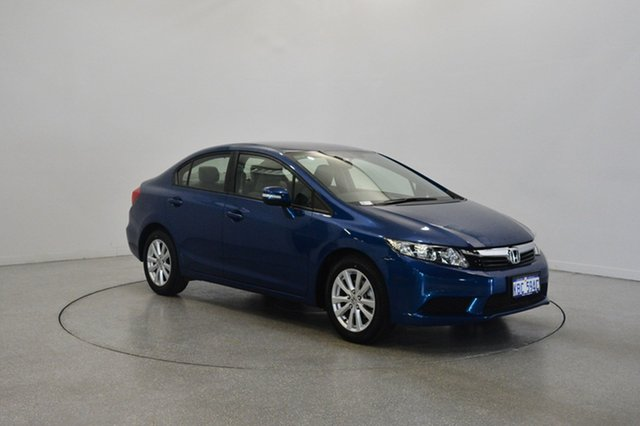 Used Honda Civic 9th Gen VTi-L, 2012 Honda Civic 9th Gen VTi-L Blue 5 Speed Sports Automatic Sedan