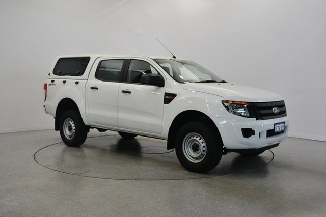 Used Ford Ranger PX XL Double Cab 4x2 Hi-Rider, 2015 Ford Ranger PX XL Double Cab 4x2 Hi-Rider White 6 Speed Manual Utility