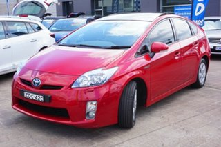 2011 Toyota Prius ZVW30R I-Tech Red 1 Speed Constant Variable Liftback.