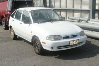 1998 Ford Festiva WF GLi White 5 Speed Manual Hatchback.