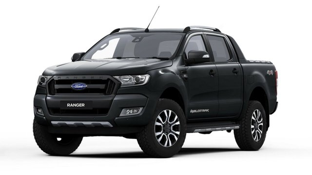 New Ford Ranger PX MkII 2018.00MY Wildtrak Double Cab, 2018 Ford Ranger PX MkII 2018.00MY Wildtrak Double Cab Shadow Black 6 Speed Sports Automatic Utility