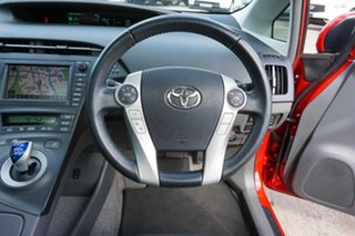 2011 Toyota Prius ZVW30R I-Tech Red 1 Speed Constant Variable Liftback