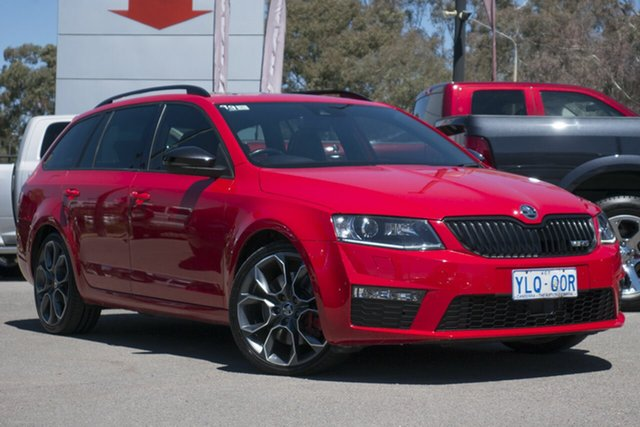 Used Skoda Octavia NE MY17 RS DSG 162TSI, 2016 Skoda Octavia NE MY17 RS DSG 162TSI Corrida Red 6 Speed Sports Automatic Dual Clutch Wagon