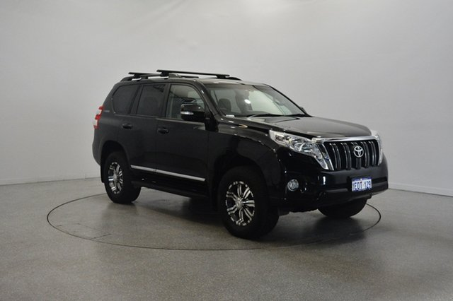 Used Toyota Landcruiser Prado KDJ150R MY14 Altitude, 2014 Toyota Landcruiser Prado KDJ150R MY14 Altitude Black 5 Speed Sports Automatic Wagon