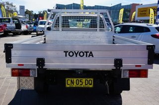 2017 Toyota Hilux TGN121R Workmate 4x2 Silver 6 Speed Sports Automatic Cab Chassis