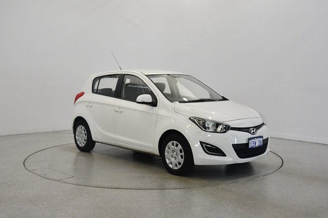 Used Hyundai i20 PB MY12 Active, 2012 Hyundai i20 PB MY12 Active White 5 Speed Manual Hatchback