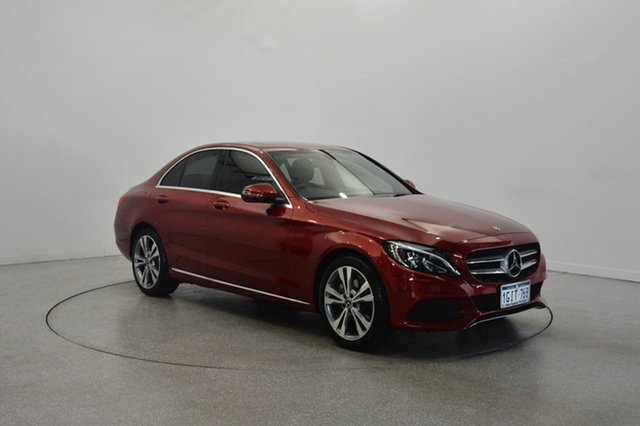 Used Mercedes-Benz C200 W205 807+057MY 9G-TRONIC, 2017 Mercedes-Benz C200 W205 807+057MY 9G-TRONIC Burgundy 9 Speed Sports Automatic Sedan