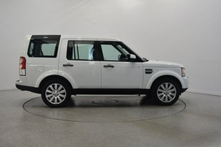 2012 Land Rover Discovery 4 Series 4 MY12 SDV6 CommandShift HSE White 6 Speed Sports Automatic Wagon.