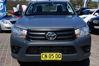 2017 Toyota Hilux TGN121R Workmate 4x2 Silver 6 Speed Sports Automatic Cab Chassis.