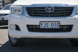 2013 Toyota Hilux KUN16R MY12 SR Xtra Cab 4x2 White 5 Speed Manual Utility