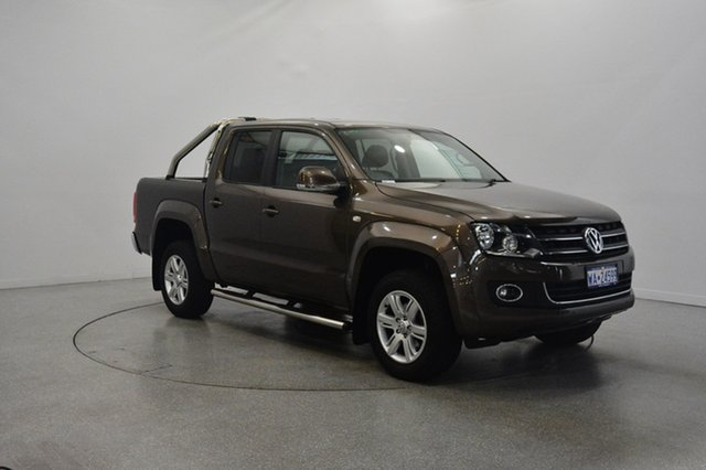 Used Volkswagen Amarok 2H MY14 TDI420 4Motion Perm Highline, 2014 Volkswagen Amarok 2H MY14 TDI420 4Motion Perm Highline Brown 8 Speed Automatic Utility