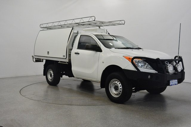 Used Mazda BT-50 UP0YD1 XT 4x2 Hi-Rider, 2012 Mazda BT-50 UP0YD1 XT 4x2 Hi-Rider White 6 Speed Sports Automatic Cab Chassis