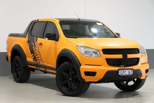 Used Holden Colorado RG LX (4x4), 2013 Holden Colorado RG LX (4x4) Orange 6 Speed Automatic Crew Cab Pickup