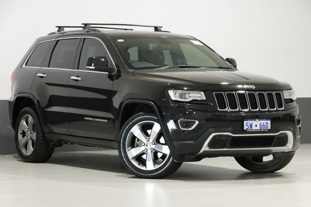 Used Jeep Grand Cherokee WK MY14 Limited (4x4), 2014 Jeep Grand Cherokee WK MY14 Limited (4x4) Black 8 Speed Automatic Wagon