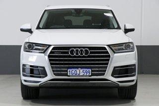 2017 Audi Q7 4M MY18 3.0 TDI Quattro (160KW) Glacier White 8 Speed Automatic Tiptronic Wagon.