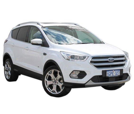 Demo Ford Escape ZG 2018.75MY Titanium PwrShift AWD, 2018 Ford Escape ZG 2018.75MY Titanium PwrShift AWD Frozen White 6 Speed