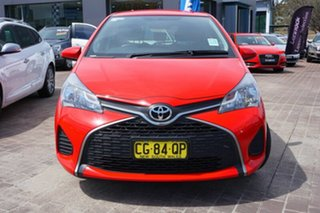 2015 Toyota Yaris NCP130R Ascent Red 5 Speed Manual Hatchback.