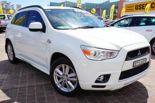 2010 Mitsubishi ASX XA MY11 Aspire White 6 Speed Manual Wagon.