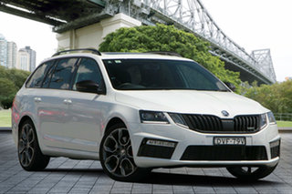 2017 Skoda Octavia NE MY18 RS DSG 169TSI White 6 Speed Sports Automatic Dual Clutch Wagon.