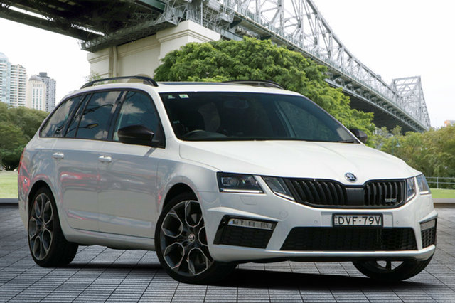 Used Skoda Octavia NE MY18 RS DSG 169TSI, 2017 Skoda Octavia NE MY18 RS DSG 169TSI White 6 Speed Sports Automatic Dual Clutch Wagon