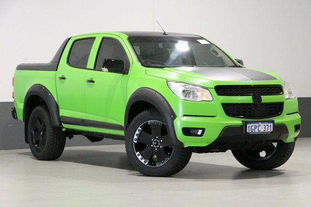 Used Holden Colorado RG LX (4x4), 2013 Holden Colorado RG LX (4x4) Green 6 Speed Automatic Crew Cab Pickup