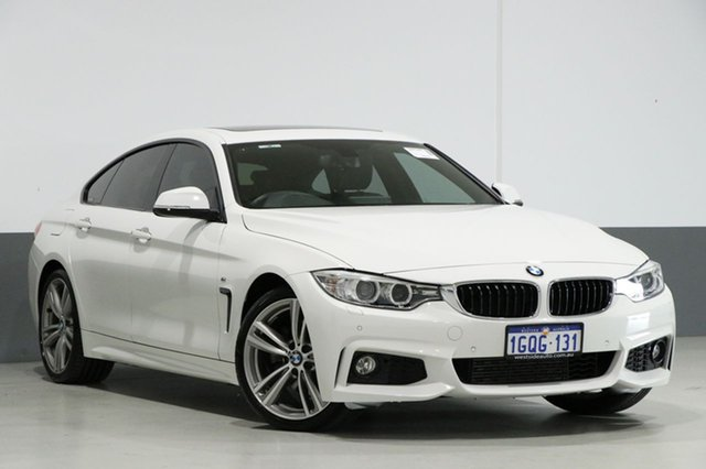 Used BMW 428i F36 M Sport Gran Coupe, 2015 BMW 428i F36 M Sport Gran Coupe White 8 Speed Sports Automatic Hatchback